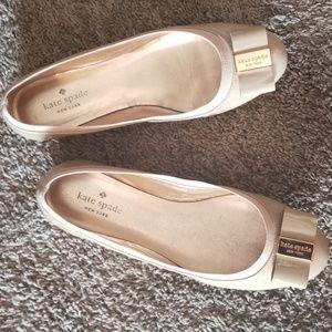 Beige Kate Spade ballet flats